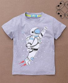 Lolly Kids Spaceman Print Tee - Grey