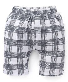 Simple Baby Checkered Bermuda Pant - Grey