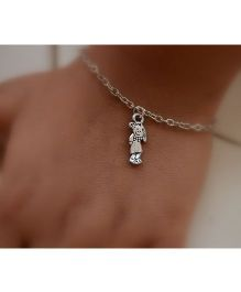 Pretty Ponytails Little Doll Bracelet - Silver