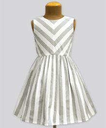 A.T.U.N Stripe Shanaya Dress - Grey
