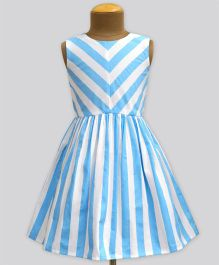 A.T.U.N Columbus Cloud Stripe Shanaya Dress - Blue
