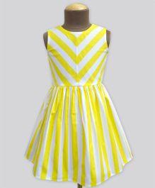 A.T.U.N Stripe Shanaya Dress - Yellow