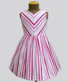 A.T.U.N Plum Passion Stripe Shanaya Dress - Pink