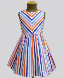 A.T.U.N Summer Picnic Stripe Shanaya Dress - Multicolor