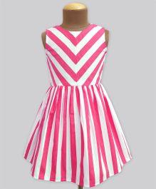 A.T.U.N Stripe Shanaya Dress - Poppy Pink