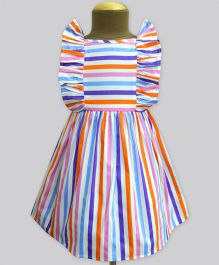 A.T.U.N Summer Picnic Stripe Ruffle Dress - Multicolour
