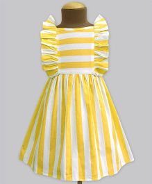 A.T.U.N Stripe Ruffle Dress - Yellow