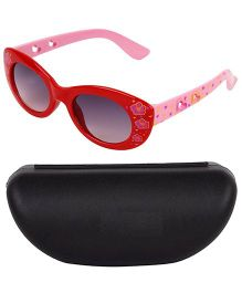 Kidofash Flower Printed Designer Sunglasses With Case - Red & Blue
