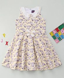 Enfance Stylish Casual Outfit With Peter Pan Collar - Yellow