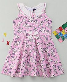 Enfance Stylish Casual Outfit With Peter Pan Collar - Pink