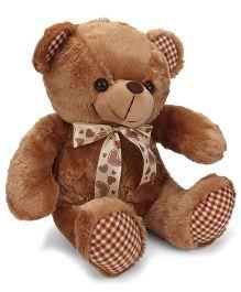 Dimpy Stuff Teddy Bear Soft Toy With Flower Brown - 38 cm