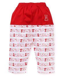 Mini Taurus Lounge Pants Puppy Print - Red