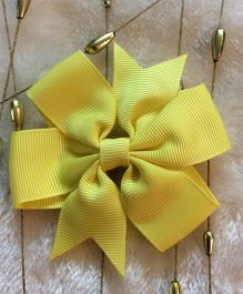 Angel Closet Boutique Floral Grosgrain Ribbon Bow Clips - Yellow