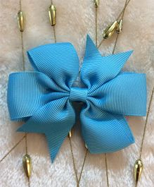 Angel Closet Boutique Floral Grosgrain Ribbon Bow Clips -  Turquoise