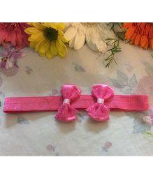 Angel Closet Cute Bow Headband - Bright Pink