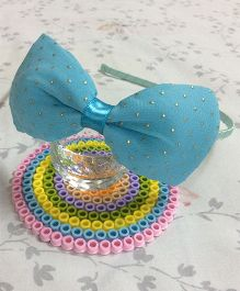 Angel Closet Hairband Bow Applique - Blue