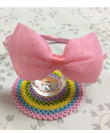 Angel Closet Hairband Bow Applique - Pink