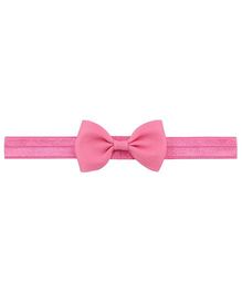Angel Closet Small Bow Headband Bright Pink One Size Cotton Microfibre