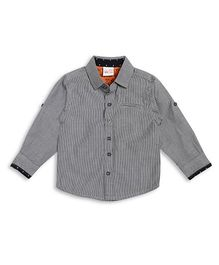 FS Mini Klub Full Sleeves Stripe Shirt - Black