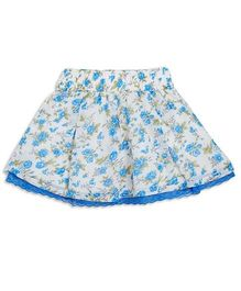 FS Mini Klub Skirt Floral Print - White Blue