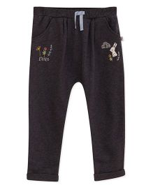 FS Mini Klub Track Pant With Embroidery - Black