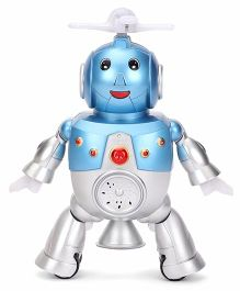 Smiles Creation Fan Robot Toy For Kids - Silver Blue