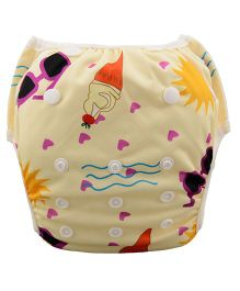 Wanna Party Swim Diaper Ice Cream Pattern - Beige