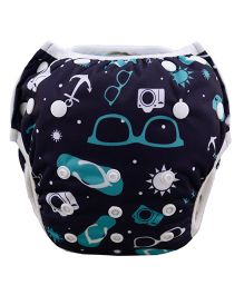 Wanna Party Swim Diaper Cool Unisex Pattern - Black