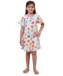 Popsicle Printed Nighty - Multicolor