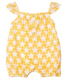 Popsicle Star Printed Elasticated Romper - Yellow