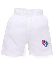 Tiny Bee Unisex Shorts - White
