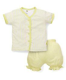 Tiny Bee Half Sleeves T-Shirt & Shorts - Yellow