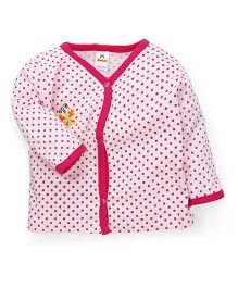 Tiny Bee Full Sleeves Vest Dots Print - Pink