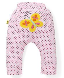 Tiny Bee Diaper Legging For Girls - Pink