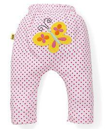 Tiny Bee Diaper Legging For Girls - Pink