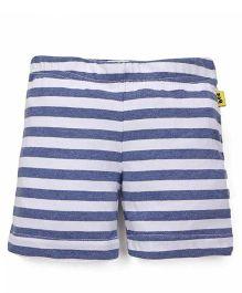 Tiny Bee Casual Shorts - White & Navy Blue