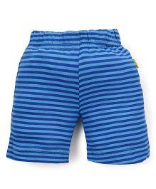 Tiny Bee Casual Shorts Stripes Print - Blue