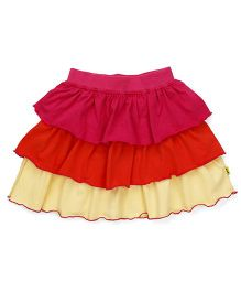 Tiny Bee 3 Tier Skirt - Multicolor