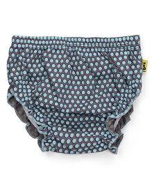 Tiny Bee Panty Allover Polka Dot Print - Blue