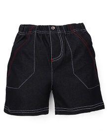 Tiny Bee Denim Shorts - Black