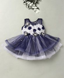 Eiora Party Wear Dress With The Beautiful Color Combination - Blue & White
