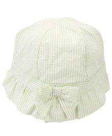 Little Wonder Stripe Print Hat - Light Green
