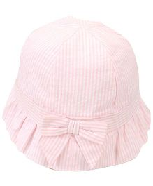 Little Wonder Stripe Print Hat - Light Pink