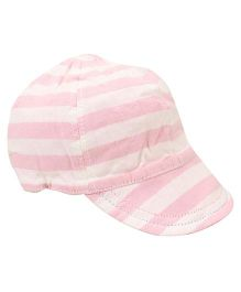 Little Wonder Stripes Print Reversible Cap - Pink