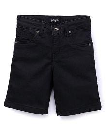 Highflier Stylish Denim Shorts - Black