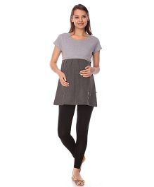 Goldstroms Maternity Nursing Top - Charcoal Grey