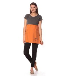 Goldstroms Maternity Nursing Top - Orange Grey