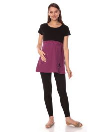 Goldstroms Maternity Nursing Top - Dark Pink Black