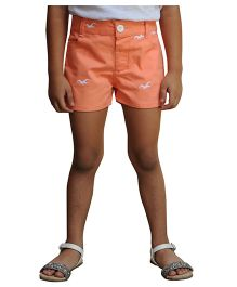 Snowflakes Shorts Embroidered - Peach