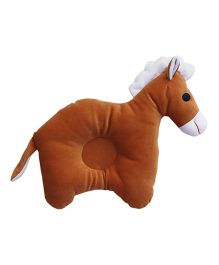 Amardeep Horse Baby Pillow - Brown